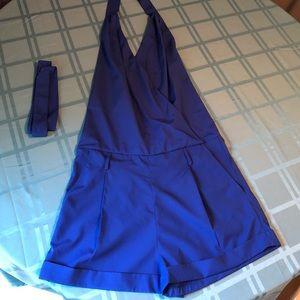 💙 Sexy blue halter shorts jumper 💙